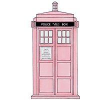 Pink TARDIS. Photographic Print