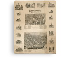 Panoramic Maps Circleville illustrated Canvas Print