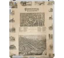 Panoramic Maps Circleville illustrated iPad Case/Skin