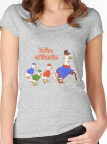 Tales of Ducks  Women's Fitted Scoop T-Shirt