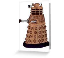 Bronze Dalek. Greeting Card