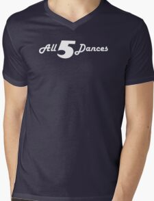 All 5 Dances Mens V-Neck T-Shirt