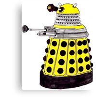 New Paradigm Dalek--Yellow, Watercolour. Canvas Print