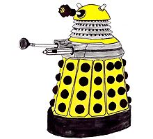 New Paradigm Dalek--Yellow, Watercolour. Photographic Print