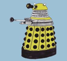 New Paradigm Dalek--Yellow, Watercolour. One Piece - Short Sleeve