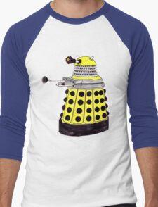 New Paradigm Dalek--Yellow, Watercolour. Men's Baseball ¾ T-Shirt