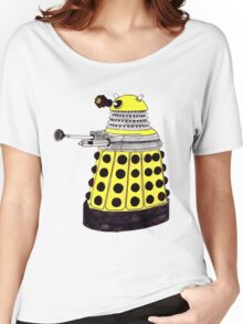 New Paradigm Dalek--Yellow, Watercolour. Women's Relaxed Fit T-Shirt