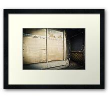 Shut Framed Print