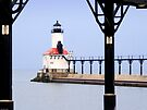 Michigan City East Pier Head Light, Indiana by Kenneth Keifer