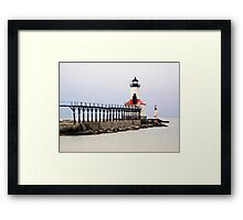 Michigan City East Pier Head Light, Indiana Framed Print