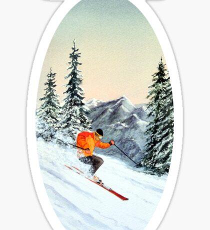 Let's Go Skiing - Banner Sticker