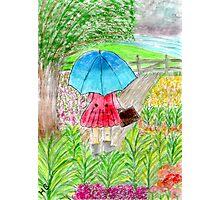 Little Umbrella Girl Photographic Print