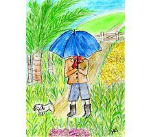 Umbrella Boy Photographic Print