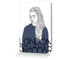 London Grammar - Lineart  Greeting Card