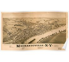 Panoramic Maps Mechanicville NY Poster