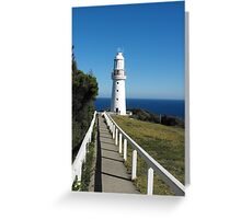The Eye of the Needle. (Cape Otway Lighthouse) Greeting Card