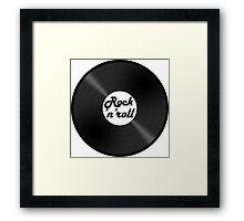 vinyl rock 'n' roll Framed Print