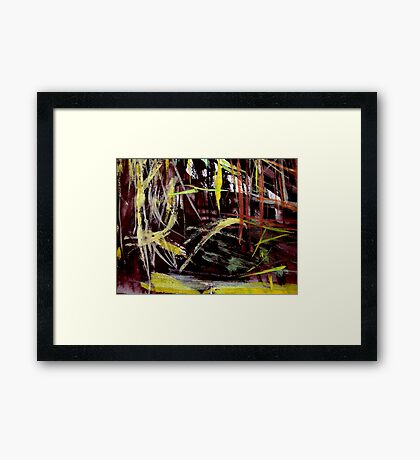 thick grove..... near the pass Framed Print