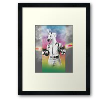 Badass Unicorn Framed Print