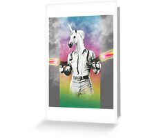 Badass Unicorn Greeting Card