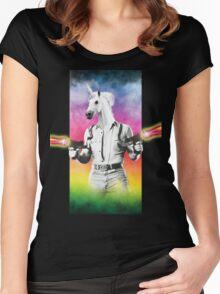 Badass Unicorn Women's Fitted Scoop T-Shirt