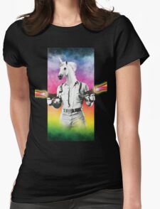 Badass Unicorn Womens Fitted T-Shirt