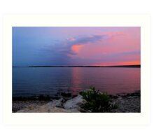 Sunrise Over Lake Texoma2 Art Print