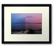 Sunrise Over Lake Texoma2 Framed Print