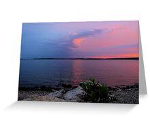 Sunrise Over Lake Texoma2 Greeting Card