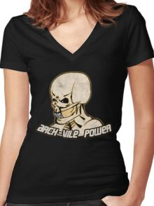 Arch-Vile Power Women's Fitted V-Neck T-Shirt