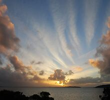 Clouds in the sunset by Ian Berry