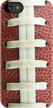 Football texture with laces iPhone case by Jnhamilt