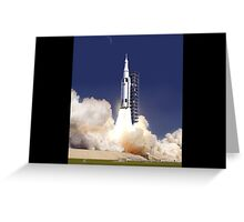 Rocket launch Greeting Card