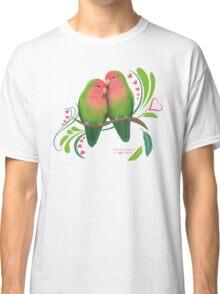 Peach Faced Lovebirds Classic T-Shirt