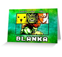 Blanka Fusion (Print Version) Greeting Card