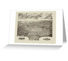 Panoramic Maps Ogontz Park Ogontz Montgomery Co Penna  Wm TB Roberts 410 Land Title Bldg Philadelphia Greeting Card