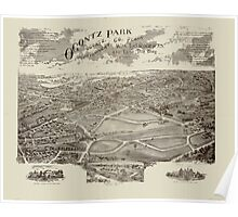 Panoramic Maps Ogontz Park Ogontz Montgomery Co Penna  Wm TB Roberts 410 Land Title Bldg Philadelphia Poster