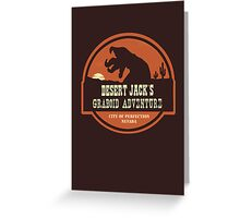 Desert Jack's Graboid Adventure logo Greeting Card