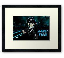 Mario Tron (Print Version) Framed Print