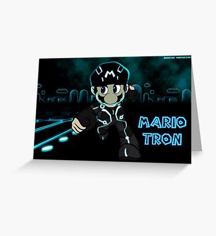 Mario Tron (Print Version) Greeting Card