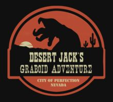 Desert Jack's Graboid Adventure logo Kids Clothes