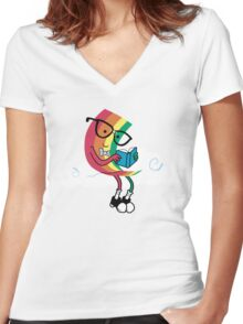 Reading Rainbow Women's Fitted V-Neck T-Shirt