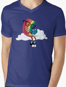 Reading Rainbow Mens V-Neck T-Shirt