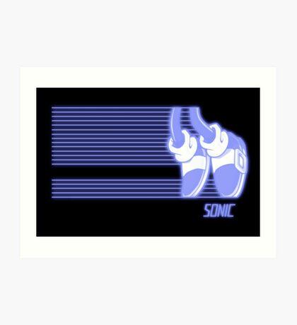 Sonic Moonwalker (Print Version) Art Print