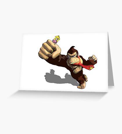 Donkey King-Kong Greeting Card
