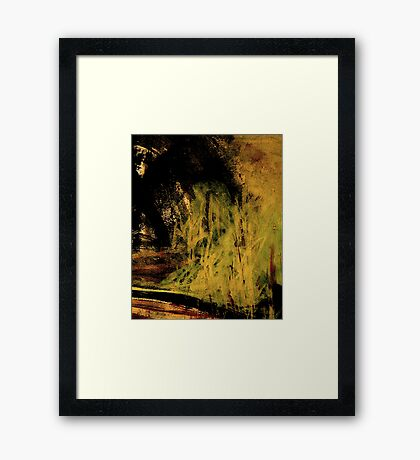 misty bluff.... close in to the rock Framed Print