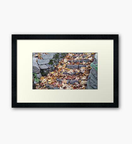 Autumnal Stairwell Framed Print