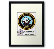 The Navy Remembers Its War Dead Framed Print