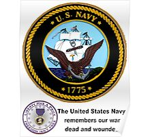 The Navy Remembers Its War Dead Poster