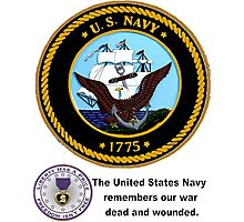 The Navy Remembers Its War Dead Photographic Print